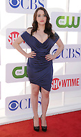 BEVERLY HILLS, CA - JULY 29: Kat Dennings arrives at the CBS, Showtime and The CW 2012 TCA summer tour party at 9900 Wilshire Blvd on July 29, 2012 in Beverly Hills, California. /NortePhoto.com<br />