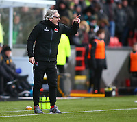 9th February 2020; Broadwood Stadium, Cumbernauld, North Lanarkshire, Scotland; Scottish Cup Football, Clyde versus Celtic; Clyde Manager Danny Lennon shouts instructions from the touchline