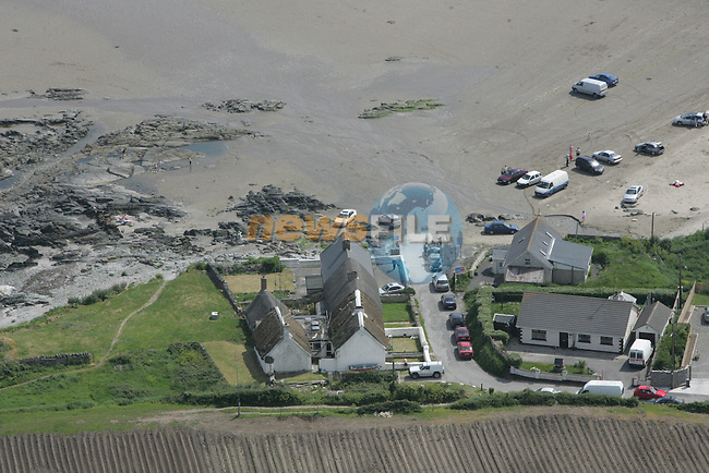 Aerial view of Clogherhead Strand. 04/06/06...Photo NEWSFILE/Fran Caffrey.(Photo credit should read Fran Caffrey/NEWSFILE)....This Picture has been sent you under the condtions enclosed by:.Newsfile Ltd..The Studio,.Millmount Abbey,.Drogheda,.Co Meath..Ireland..Tel: +353(0)41-9871240.Fax: +353(0)41-9871260.GSM: +353(0)86-2500958.email: pictures@newsfile.ie.www.newsfile.ie.FTP: 193.120.102.198...This picture is from Fran Caffrey@newsfile.ie