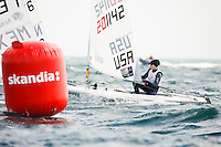 20120606, Weymouth, England: SKANDIA SAIL FOR GOLD 2012 - The waters of Weymouth Bay and Portland Harbour will be filled with the stars of sailing over the next couple of weeks as the team?s training camps at the 2012 Olympic venue turn serious with the final pre-event - Skandia Sail for Gold. The 523 entries from 59 nations features 723 athletes and 249 coaches. PHOTO: Mick Anderson/SAILINGPIX.DK
