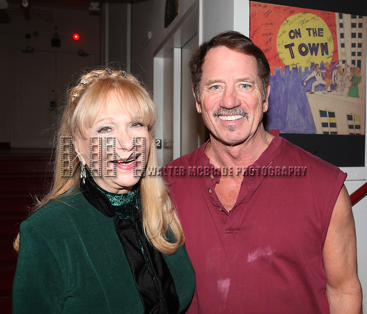 Jacqueline McElroy-Poquette ('Pipe Dreams' Original Broadway Cast Member) & Tom Wopat.backstage after the Opening Night Performance of New York City Center Encores! 'Pipe Dream'  in New York City on 3/28/2012.