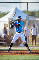 Kendall Ewell during the WWBA World Championship at the Roger Dean Complex on October 19, 2018 in Jupiter, Florida.  Kendall Ewell is an outfielder from Calumet City, Illinois who attends Marist High School and is committed to Eastern Kentucky.  (Mike Janes/Four Seam Images)