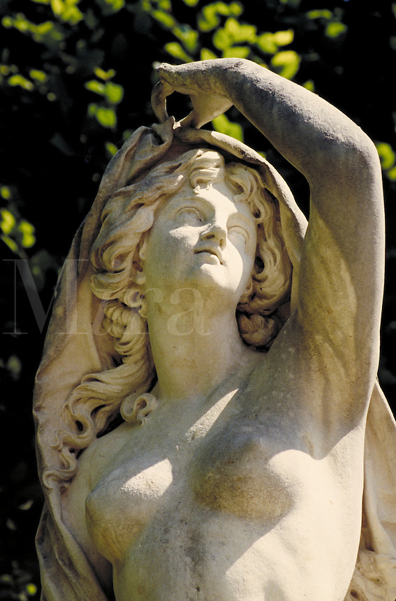 Sculptural detail of female torso. Florence Tuscany Italy Europe.