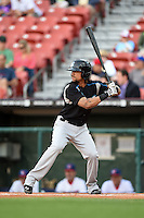 Syracuse Chiefs shortstop Emmanuel Burriss (2) at bat during a game against the Buffalo Bisons on July 23, 2014 at Coca-Cola Field in Buffalo, New  York.  Syracuse defeated Buffalo 5-0.  (Mike Janes/Four Seam Images)
