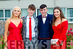 Pictured at Coláiste Íde, Dingle Debs held at the Earl of Desmond, Hotel, Tralee, on Tuesday night last were l-r: India Mason, Rory O'Meara, David O'Sullivan and Amanda O'Sullivan.