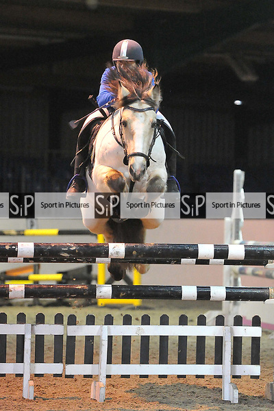 Class 5. Foxhunter. British showjumping juniors. Brook Farm Training Centre. Stapleford Abbotts. UK. 07/01/2018. ~ MANDATORY CREDIT Garry Bowden/Sport in Pictures - NO UNAUTHORISED USE - +44 7837 394578