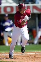 South Carolina shortstop Reese Havens (6) hustles down the first base line versus LSU at Sarge Frye Stadium in Columbia, SC, Thursday, March 18, 2007.