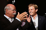 Dr. Dieter Zetsche (GER), Chairman of Daimler - Nico Rosberg (GER), Mercedes GP<br /> for the complete Middle East, Austria & Germany Media usage only!<br />  Foto © nph / Mathis