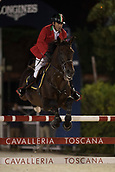 29th September 2017, Real Club de Polo de Barcelona, Barcelona, Spain; Longines FEI Nations Cup, Jumping Final; GARCIA Juan Carlos (ITA)  riding Gitano V.Berkenbroeck during the final of the Nations Cup