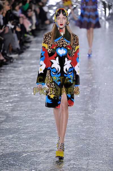 MARY KATRANTZOU<br /> London Fashion Week<br /> Ready to Wear<br /> Fall Winter 16/17<br /> in London, England February 21, 2016.<br /> CAP/GOL<br /> &copy;GOL/Capital Pictures