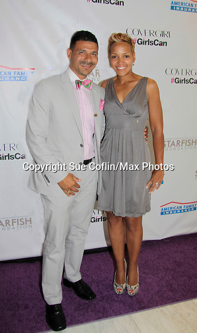 Steve and Laiani Perry at Soledad O'Brien and Brad Raymond Starfish Foundation presents New Orleans to New York City 2014 Gala on July 24, 2014 at Espace, New York City for VIP Cocktail Reception, dinner, entertainment with Grammy Award winning Trumpeteer Irvin Mayfield (also Board president) and the New Orleans Jazz Orchestra. (Photo by Sue Coflin/Max Photos)
