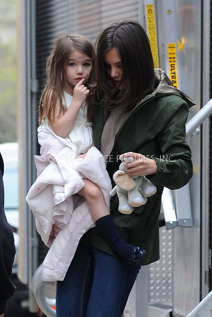 WWW.ACEPIXS.COM . . . . . ....April 9 2010, New York City....Actress Katie Holmes carries her daughter Suri Cruise on the Queens set of her new movie 'Son of no one' on April 9 2010 in New York City....Please byline: KRISTIN CALLAHAN - ACEPIXS.COM.. . . . . . ..Ace Pictures, Inc:  ..(212) 243-8787 or (646) 679 0430..e-mail: picturedesk@acepixs.com..web: http://www.acepixs.com