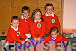 PLAYING: Making sandcastle on their first day at Derry Quay National School, Annagh Tralee on Friday. They were, Finn Brosnan,Colin Doody,Judith Waugh,Do?nall Crean and Cioara Fitzgibbon......... ...... ..DANCING: Denise McEvoy Tralee who danced the night away at her 30th Birthday Party in the KOR GAA & Hurling Club, Strand Road, Tralee(Denise is seated centre). .... ..   Copyright Kerry's Eye 2008