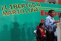 Protesta por la Libertad de Mario Luna en el Museo de la Ciudad de México