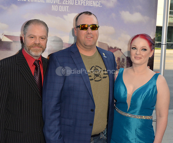 "BEVERLY HILLS, CA June 30- George Patton, Scott Jansen, Michelle Jansen at The World Premiere of ""Not A War Story"" at the Samuel Goldwyn Theater Academy of Motion Picture Arts and Sciences in Beverly Hills, California on June 30, 2017.  Credit: Koi Sojer/Snap'N U Photos/MediaPunch"
