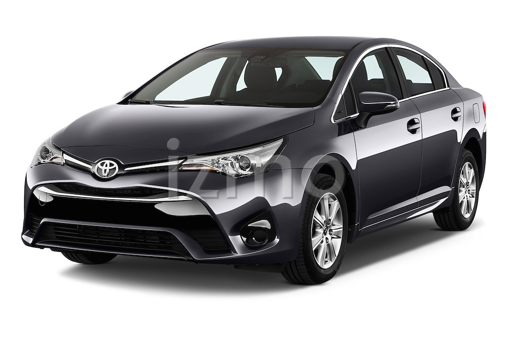 2015 Toyota Avensis Active 4 Door Sedan Angular Front stock photos of front three quarter view