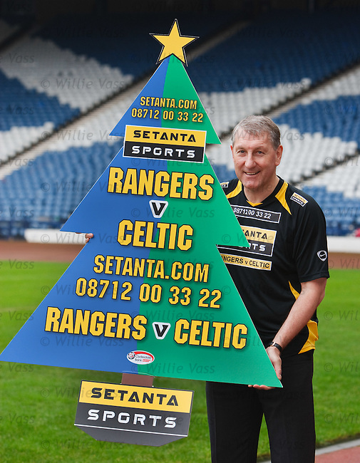 Terry Butcher promotes the Old Firm game for Setanta