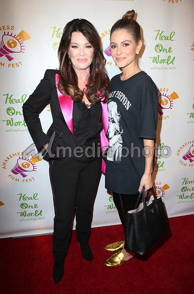 "05 October 2017 - Los Angeles, California - Lisa Vanderpump, Maria Menounos. ""The Road To Yulin And Beyond"" Los Angeles Premiere. Photo Credit: F. Sadou/AdMedia"