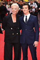 "Emma Thompson and Fionn Whitehead<br /> arriving for the premiere of ""The Children Act"" at the Curzon Mayfair, London<br /> <br /> ©Ash Knotek  D3420  16/08/2018"