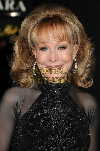 "Barbara Eden.The World Premiere of ""New Year's Eve' held at The Grauman's Chinese Theatre in Hollywood, California, USA..December 5th, 2011.headshot portrait black sheer sleeveless silver hoop earrings .CAP/ADM/BP.©Byron Purvis/AdMedia/Capital Pictures."