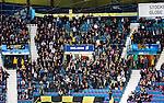 Stockholm 2014-12-01 Ishockey Hockeyallsvenskan AIK - S&ouml;dert&auml;lje SK :  <br /> AIK:s supportrar p&aring; Hovet under matchen mellan AIK och S&ouml;dert&auml;lje SK <br /> (Foto: Kenta J&ouml;nsson) Nyckelord:  AIK Gnaget Hockeyallsvenskan Allsvenskan Hovet Johanneshov Isstadion S&ouml;dert&auml;lje SSK supporter fans publik supporters