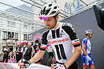 Tom Dumoulin (NED) Team Sunweb at sign on before the start of Stage 15 of the 2018 Giro d'Italia, running 156km from Tolmezzo to Sappada, Italy. 20th May 2018.<br /> Picture: LaPresse/Gian Mattia D'Alberto | Cyclefile<br /> <br /> <br /> All photos usage must carry mandatory copyright credit (&copy; Cyclefile | LaPresse/Gian Mattia D'Alberto)