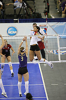 14 December 2006: Stanford Cardinal Cynthia Barboza during Stanford's 30-12, 30-25, 30-15 win against the Washington Huskies in the 2006 NCAA Division I Women's Volleyball Final Four semifinal match at the Qwest Center in Omaha, NE.