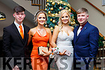 Attending the CBS Debs at the Ballroom Heights Hotel on Friday night last, l-r, Daniel Sbeda (Tralee), Andrea O'Callaghan, Isabelle Flamini and Graham Moriarty Flynn (Tralee).