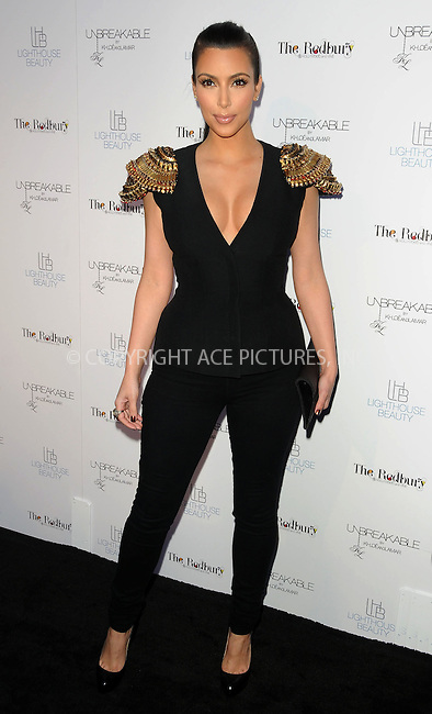 WWW.ACEPIXS.COM . . . . . ....April 4 2011, Los Angeles....Kim Kardashian at the 'Unbreakable' Fragrance Launch at The Redbury on April 4, 2011 in Los Angeles, CA....Please byline: PETER WEST - ACEPIXS.COM....Ace Pictures, Inc:  ..(212) 243-8787 or (646) 679 0430..e-mail: picturedesk@acepixs.com..web: http://www.acepixs.com