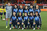 Japan women's national team group line-up (JPN), NOVEMBER 29, 2015 - Football / Soccer : Japan team group (L-R) Erina Yamane, Saki Kumagai, Rumi Utsugi, Mizuho Sakaguchi, Kana Osafune, Yuki Ogimi  front: Aya Sameshima, Emi Nakajima, Aya Miyama, Saori Ariyoshi, Saori Arimachi pose during the International friendly match between Netherlands women's national team and Japan women's national team at FC Volendam Stadium in Volendam, Netherlands (Photo by AFLO)