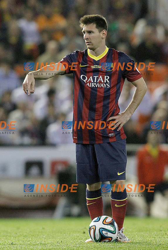 FC Barcelona's Leo Messi during spanish KIng's Cup Final match.April 16,2014. (ALTERPHOTOS/Acero) <br /> Finale Coppa del Re<br /> Real Madrid Barcellona <br /> Foto Insidefoto