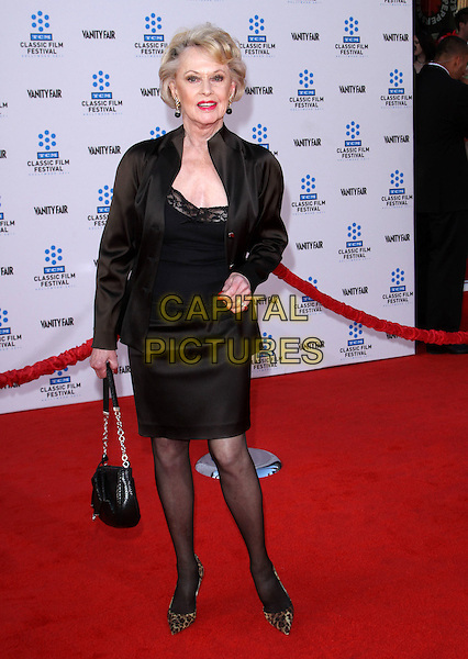TIPPI HEDREN.2011 TCM Classic Film Festival Opening Night Held At The Grauman Chineses Theatre, Hollywood, California, USA..April 28th, 2011.full length black dress jacket silk satin bag purse.CAP/ADM/KB.©Kevan Brooks/AdMedia/Capital Pictures.