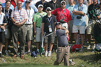 JB Holmes a flop shot from the ide of the 7th green during the Afternoon Fourball on Day 2 of the Ryder Cup at Valhalla Golf Club, Louisville, Kentucky, USA, 20th September 2008 (Photo by Eoin Clarke/GOLFFILE)