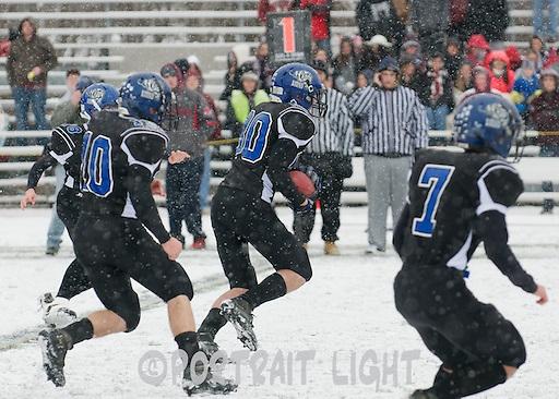 TRHS junior Kyle McCubrey fields a kick.