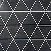 Hoffman, a waterjet stone mosaic, shown in honed Orpheus Black and Zinc.