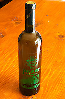 Bottle of Posip wine. Matusko Winery. Potomje village, Dingac wine region, Peljesac peninsula. Matusko Winery. Dingac village and region. Peljesac peninsula. Dalmatian Coast, Croatia, Europe.
