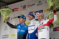 Kasper Asgreen (DEN/Deceuninck - QuickStep) wins the 72nd Kuurne-Brussel-Kuurne 2020 by staying seconds ahead of a chasing/sprinting peloton with Giacomo Nizzolo (ITA/NTT) coming in 2nd ahead of Alexander Kristoff (NOR/UAE-Emirates)<br /> <br /> Kuurne to Kuurne (BEL): 201km<br /> <br /> ©kramon