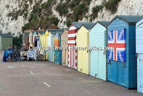 Broadstairs Kent Uk. British beach huts