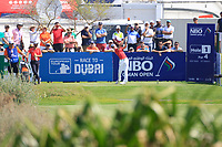 Daan Huizing (NED) during the third round of the NBO Open played at Al Mouj Golf, Muscat, Sultanate of Oman. <br /> 17/02/2018.<br /> Picture: Golffile | Phil Inglis<br /> <br /> <br /> All photo usage must carry mandatory copyright credit (&copy; Golffile | Phil Inglis)