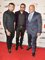LOS ANGELES, CA - SEPTEMBER 30: Weston Cage, Nicolas Cage and Christopher Matthew Cook at the retrospective of Paul SchraderÕs body of work and The Beyond Fest Screening and Retrospective of Dog Eat Dog hosted by American Cinematheque at the Egyptian Theatre in Los Angeles, California on September 30, 2016. Credit: Koi Sojer/Snap'N U Photos/MediaPunch