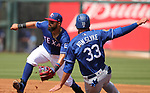 Images from a spring training game between the Los Angeles Dodgers and the Texas Rangers in Surprise, Ariz., on Saturday, March 26, 2017.<br /> Photo by Cathleen Allison/Nevada Photo Source