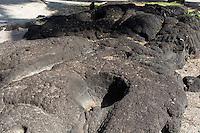 Kanoa carved bowls in Pu'uhonua o Honaunau place of refuge national historical park, Big Island, Hawaii