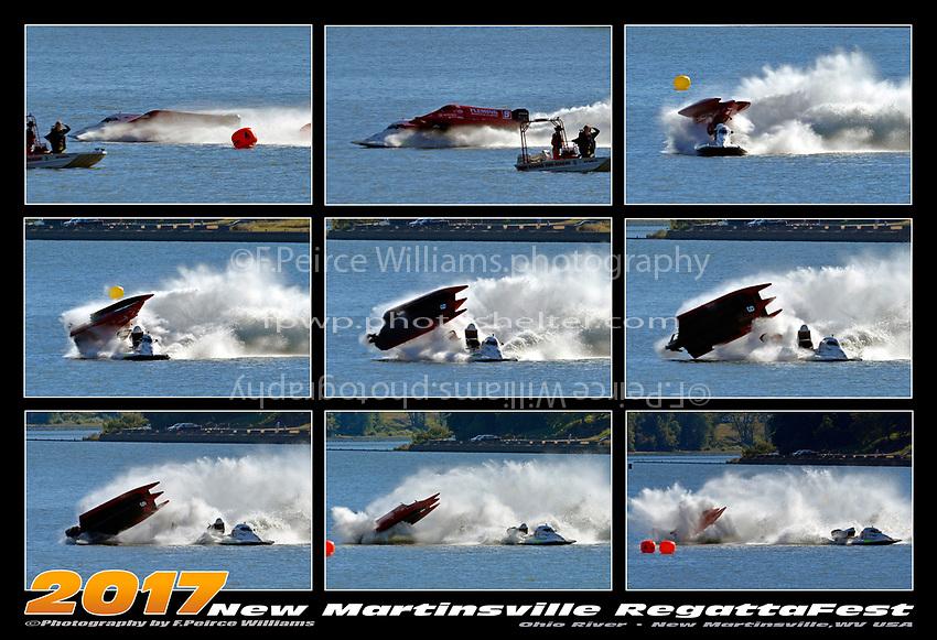 Dustin Terry, Johnny Fleming crash. 9 frame MiniPoster