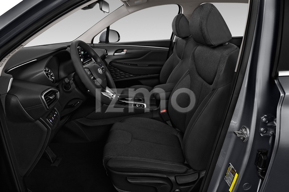 Front seat view of a 2019 Hyundai Santa FE SE 4 Door SUV front seat car photos