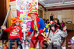Christmas Craft Fair in aid of Oncology Unit UHK and Glebe Lodge at the River Island Hotel, Castleisland on Saturday were Kenny the Clown with Magie Riordan and Sinead Scanlon