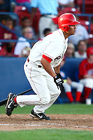 July 23rd 2008:  Jason Ogata of the Spokane Indians, Short Season Class-A affiliate of the Texas Rangers, during a game at Home of the Avista Stadium in Spokane, WA.  Photo by:  Matthew Sauk/Four Seam Images