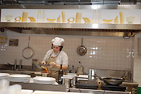 - Eataly, market for the sale of quality Italian food, kitchen of restaurant<br /> <br /> - Eataly, market per la vendita del cibo italiano di qualit&agrave;, cucina del ristorante