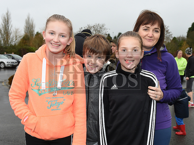 Annmarie, Abigail, Grace and John Woods who took part in the Goal Mile at St Fechins GAA club on St Stephen's morning. Photo:Colin Bell/pressphotos.ie