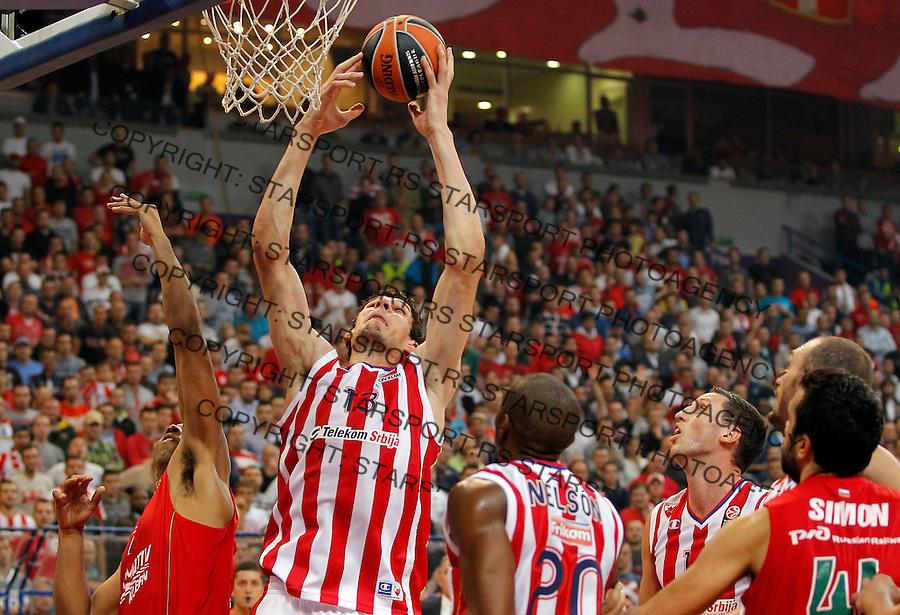 Kosarka Euroleague season 2013-2014<br /> Crvena zvezda v lokomotiva Kuban<br /> Euroleague<br /> Boban Marjanovic (C)<br /> Beograd, 17,10.2013.<br /> foto: Srdjan Stevanovic/Starsportphoto &copy;