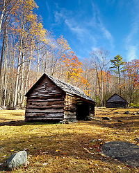Old cabin along the Roaring Forks Motor Trail.